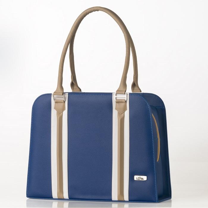 bolso mediano azul oscuro