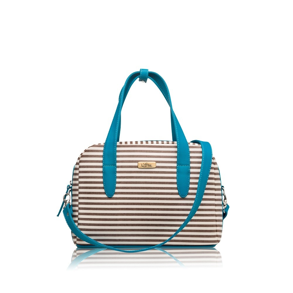 Bolso Mini Bag Lineas Camel - Correa Larga Manos Libres