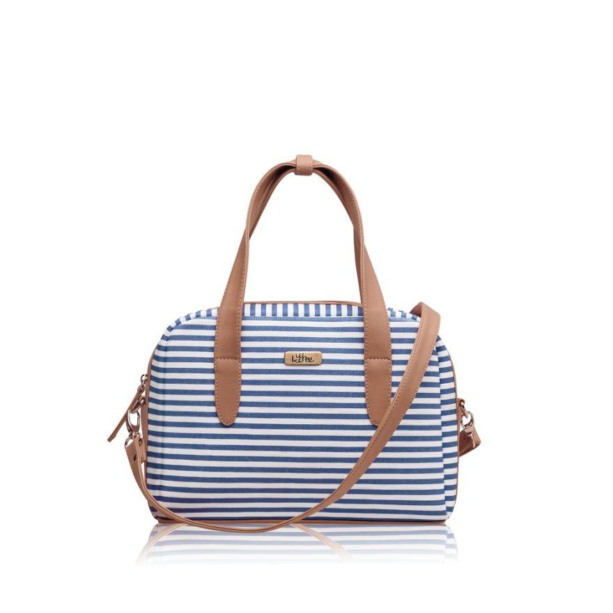 Bolso Mini Bag Lineas Azules - Correa Larga Manos Libres